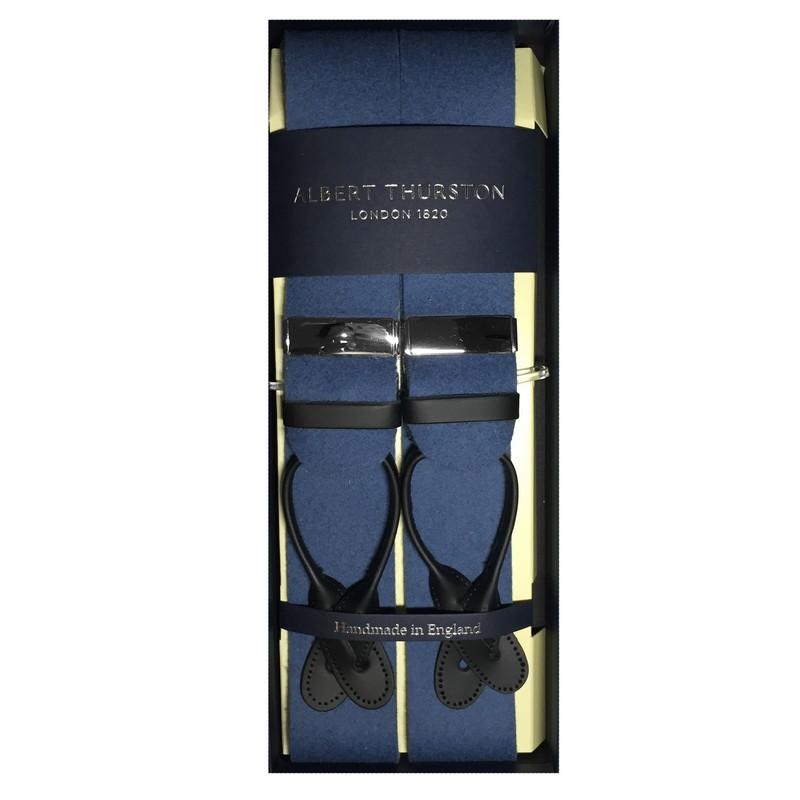153cd238de5c Woolfelt Braces with Leather Ends – Sax Blue